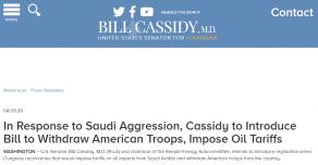 «Вангование» и проект Закона о выводе войск США из Саудовской Аравии и санкциях в отношение саудовской нефти