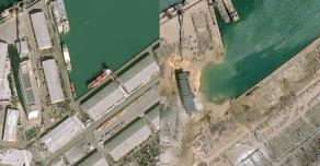 Ужасные последствия взрыва в Бейруте видны из космоса