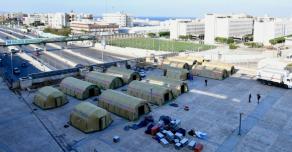В пострадавшем от взрыва Бейруте уже началась работа российского аэромобильного госпиталя