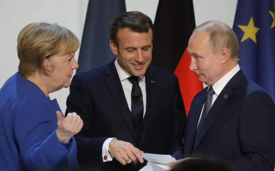 Подробности переговоров Путина Меркель и Макрона