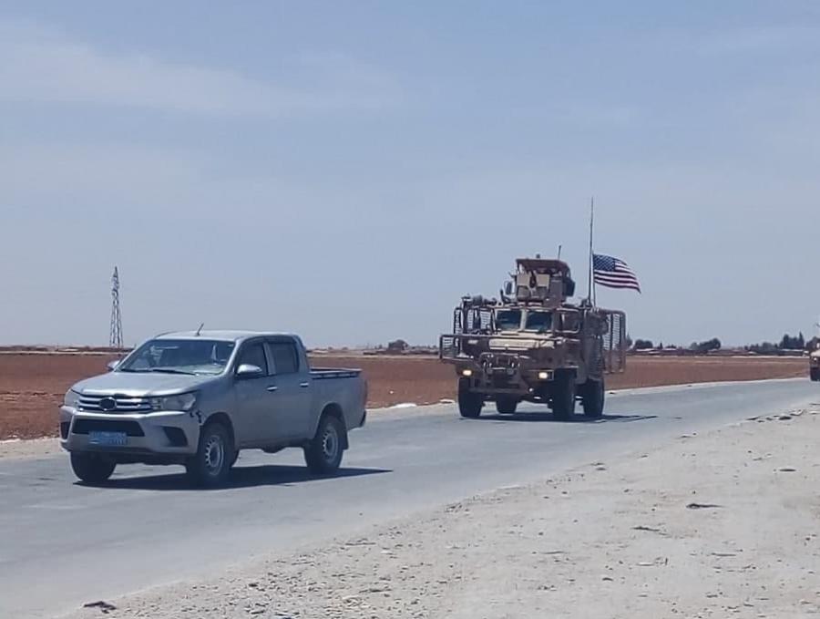 Российскими военными в Сирии была заблокирована военная колонна США