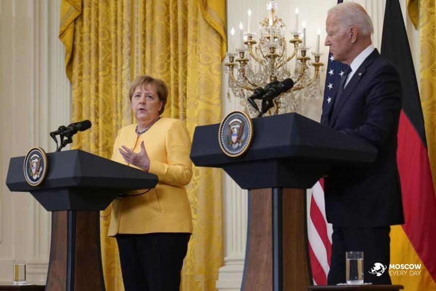 Во время прощального визита в Вашингтон Ангела Меркель подтвердила намерение достроить «Северный поток-2»